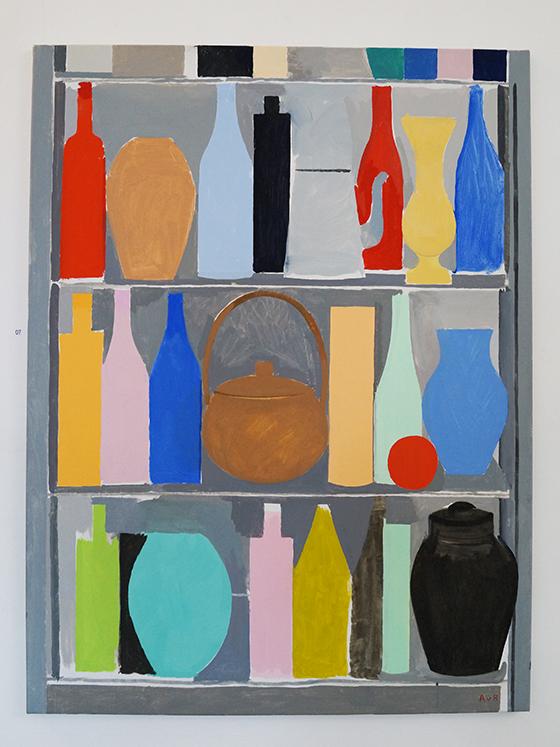 Anselm van Rood, Shelf Life #3 (Polychrome), oil on canvas, 2015