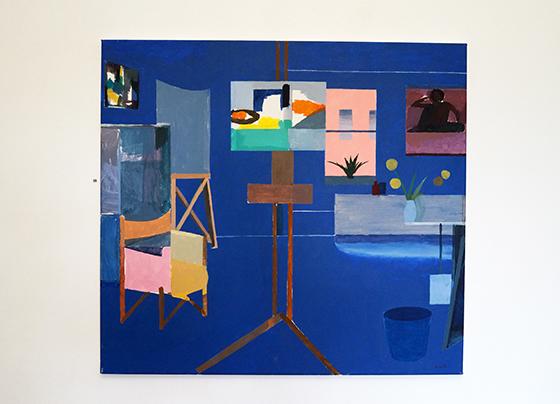 Anselm van Rood, The Blue Studio, Oil on Canvas, 2014