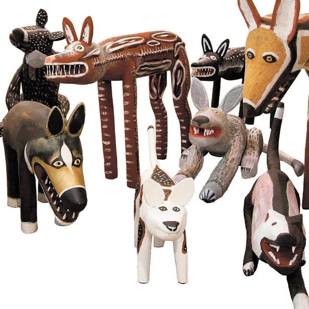 Aurukun Art Centre Dingo sculptures