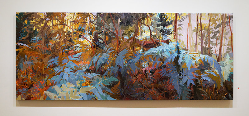 MARY TONKIN, Buffeted, Above the... 2015, oil on linen, 73 x 182 cm